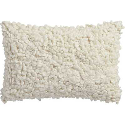 Toodle pillow with down-alternative insert - CB2