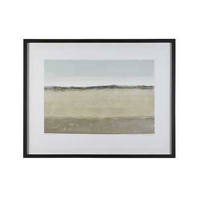 """Evening Calm Print- 44""""Wx2""""Dx34.5""""H- Framed - Crate and Barrel"""