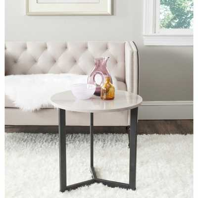 Safavieh Ballard Taupe/ Black Lacquer End Table - Overstock