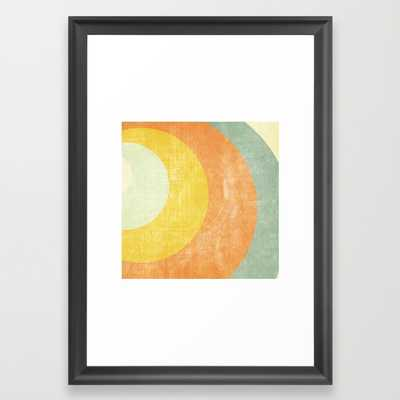 Colored retro paper - 15x21 - Framed - Society6