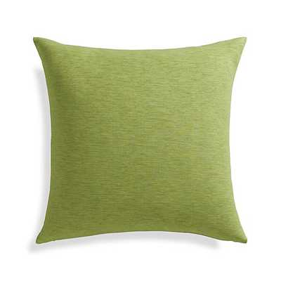 "Linden Leaf Pillow 18""Sq. insert included - Crate and Barrel"