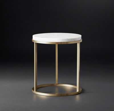 NICHOLAS MARBLE ROUND SIDE TABLE - RH Modern