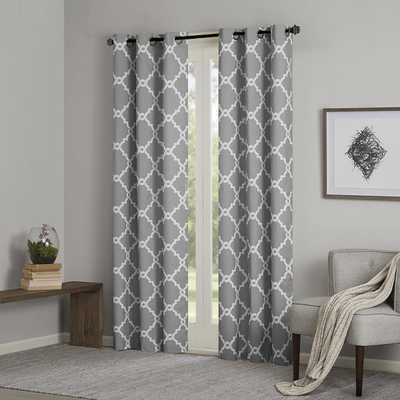 Merritt Geometric Curtain Panel - Wayfair