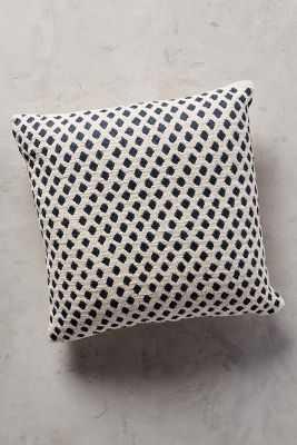 "Diamond Dots Pillow - Navy - 18""x18"" - Polyfill - Anthropologie"