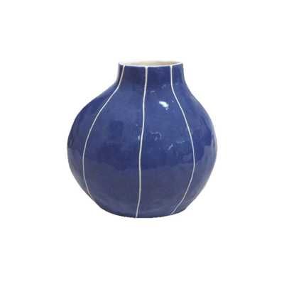 Danish Blue Pod Vase - Domino