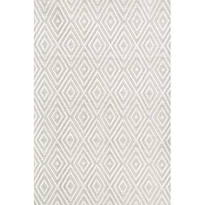 Diamond Platinum & White Indoor/Outdoor Area Rug - 6' x 9' - AllModern