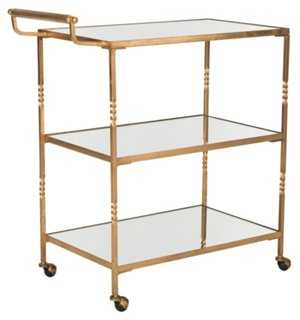 Andrei Bar Cart, Gold - One Kings Lane