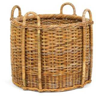 """French Country Round Basket, 24.5"""" - One Kings Lane"""