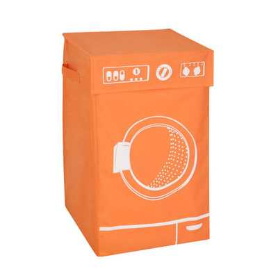 Honey Can Do Orange Graphic Washing Hamper - Overstock