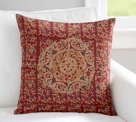 "KALIMKARI PRINTED MEDALLION PILLOW COVER-20"" sq-Multi-colored - Insert sold separately - Pottery Barn"