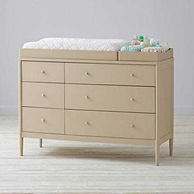 Hampshire 6-Drawer Changing Table (Stone) - Land of Nod