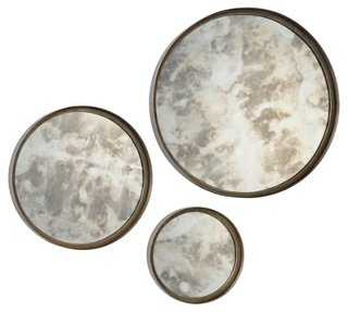 Barbara Accent Mirror Silver - Set of 3 - One Kings Lane