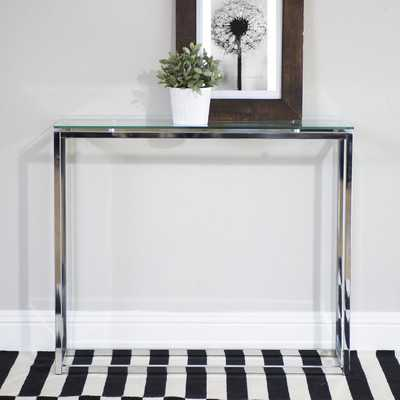 Eurostyle Sandor Console Table - Clear - Wayfair