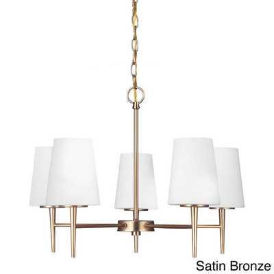 Driscoll 5-light Single-tier Chandelier - Satin Bronze - Overstock