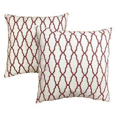 """Thresholdâ""""¢ 2-Pack Trellis Toss Pillows-Red-18""""x18""""-Insert - Target"""
