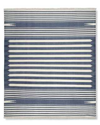 Stonewashed Variegated Stripe Flatweave Rug - 9' X 12' - Williams Sonoma Home