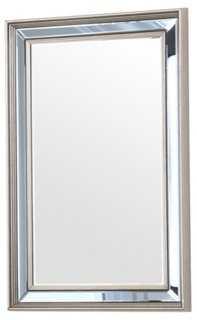 Chloe Oversize Mirror, Silver - One Kings Lane
