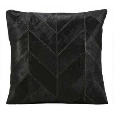 Kathy ireland Black 20-inch Pillow by Nourison - Polyester fill - Overstock