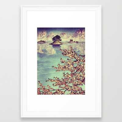 "Watching Kukuyediyo - FRAMED ART PRINT/SCOOP WHITE SMALL (15"" X 21"") - Society6"