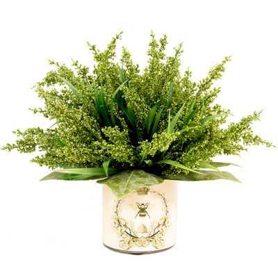 Green Heather in Decoupage Pot - Wayfair