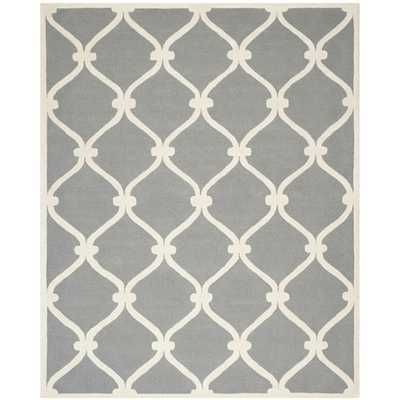 Cambridge Dark Gray Area Rug - Wayfair