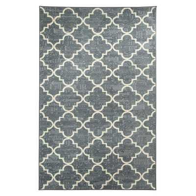 Strata Fancy Trellis Gray Printed Area Rug - 8' x 10' - Wayfair