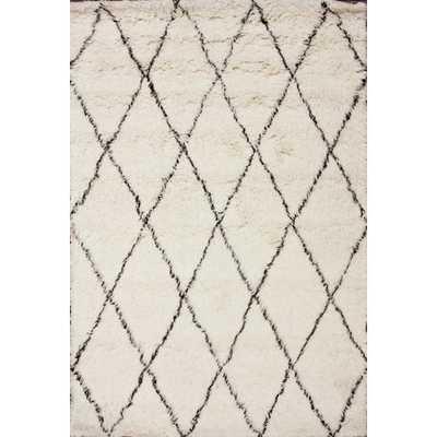 Moderna Ivory Moroccan Shag Area Rug, 8' x 10' - Wayfair