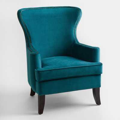 Pacific Blue Elliott Wingback Chair - World Market/Cost Plus