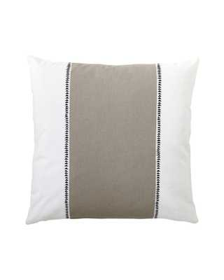 Racing Stripe Pillow Cover - Bark - 20x20 - Insert Sold Separately - Serena and Lily