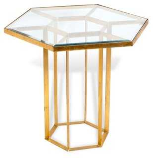 Keeley Foyer Table, Gold - One Kings Lane