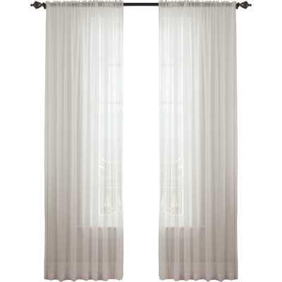"Textured Chiffon Single Curtain Panel - 84"" L x 52"" W - Wayfair"