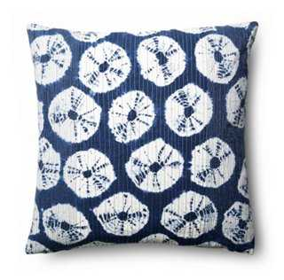 Japur 18x18 Cotton Pillow, Navy - One Kings Lane