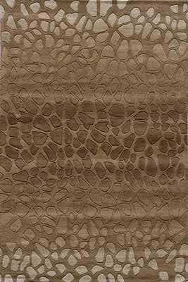 Momeni Delhi DL-33 Brown Area Rug - 2'3''x8'0'' - rugstudio.com
