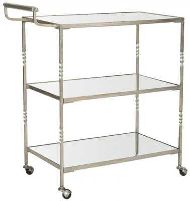 Aurelius Bar Cart Silver - Domino