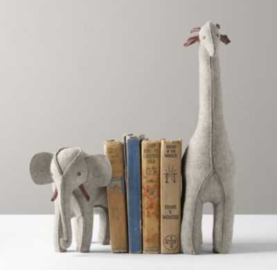 wool felt animal bookend - giraffe - RH Baby & Child