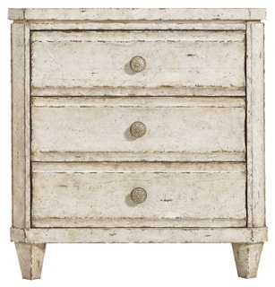 Ripple Cay Nightstand, Weathered White - One Kings Lane