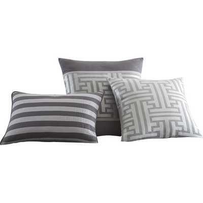 Mandalay Bay 3 Piece Mercer Jacquard Decorative Cotton Breakfast and Throw Pillow Set - AllModern