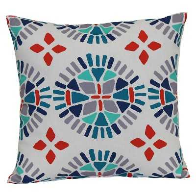 "Room Essentialsâ""¢ Outdoor Pillow - Multicolor Medallion- 15.000L x 15.000W- Polyester insert - Target"
