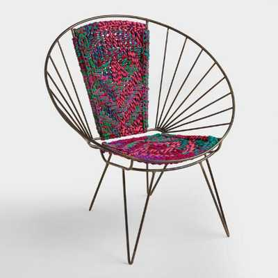Metal Woven Chindi Chair - World Market/Cost Plus