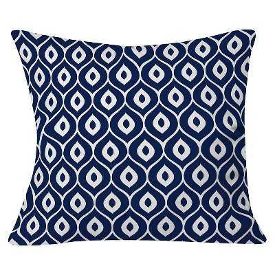 """Aimee St Hill Leela Navy Throw Pillow - (20""""x20"""") - Polyester fill - Target"""