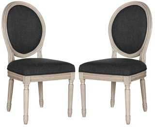 Charcoal Hunter Side Chairs, Pair - One Kings Lane