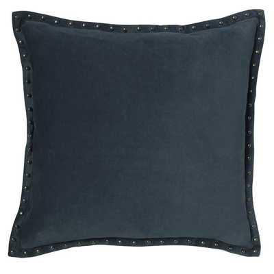 """Studded Velvet Pillow Cover - Regal Blue (20"""" Sq.)- Insert sold separately - West Elm"""