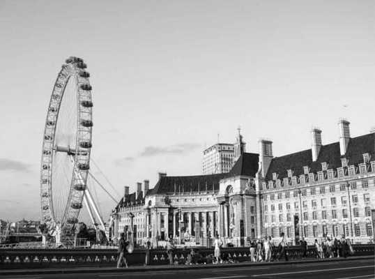London Eye Print Panorama London Decor - Etsy