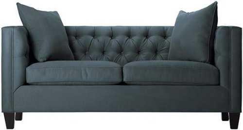 Lakewood Tufted Sofa - Bella Lagoon Polyester - Home Decorators