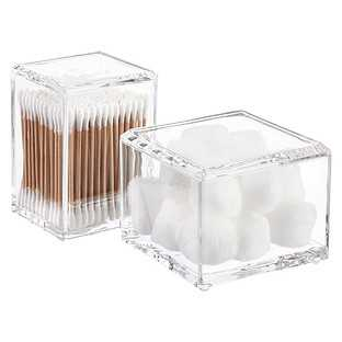 Short Acrylic Square Canister w/ Lid Clear - containerstore.com