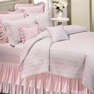 Amanda Pink Cotton Reversible Quilt - Overstock