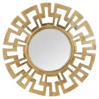 Greek Wall Mirror, Antiqued Gold - One Kings Lane