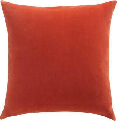"""leisure burnt orange 23"""" pillow, insert - CB2"""