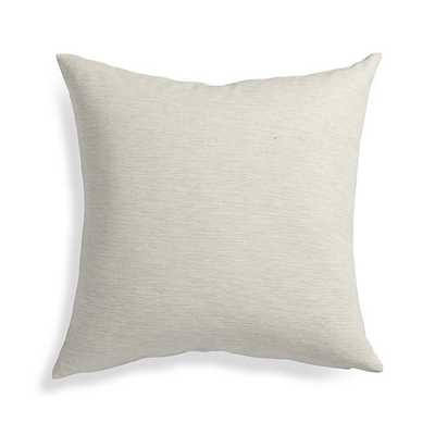 "Linden Natural 18"" Pillow with Feather-Down Insert - Crate and Barrel"