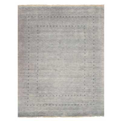 Handmade Grey Lori Baft Wool Rug - Overstock